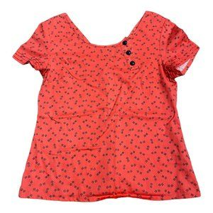 Tulle Womens Red Pullover Basic Top Size S